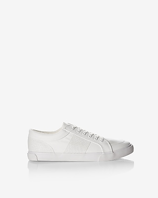 Express Mens Perforated Low Top Sneakers