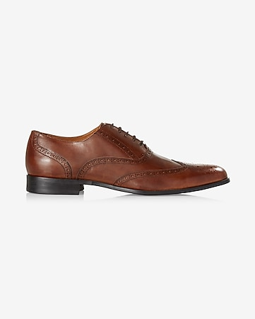 brown leather wingtip oxford