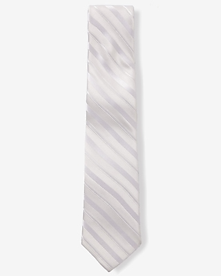 narrow silk tie - solid stripe