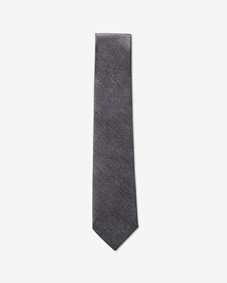 Express Mens Textured Solid Narrow Silk Tie