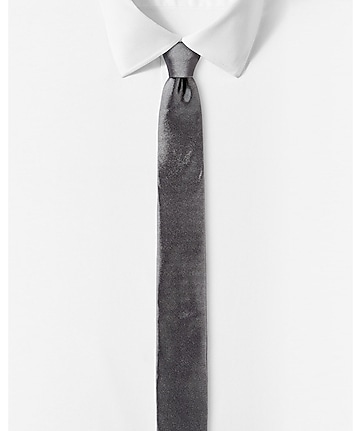 tall skinny solid silk tie