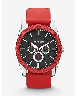 Express Mens Rivington Multi-Function Watch - Red