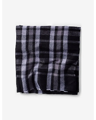 Express Mens Woven Plaid Scarf