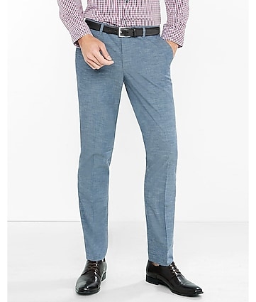 slim gray textured innovator dress pant
