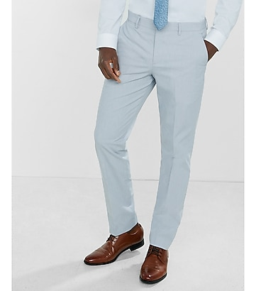 slim photographer puppytooth cotton dress pant