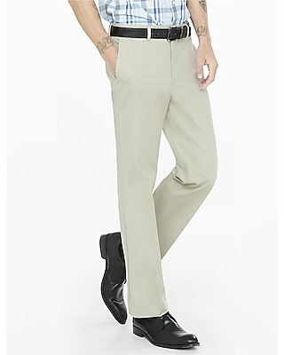 relaxed agent stretch cotton khaki dress pant