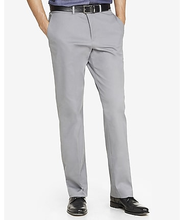 relaxed agent stretch cotton gray dress pant