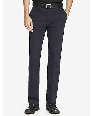 modern producer navy stretch cotton dress pant