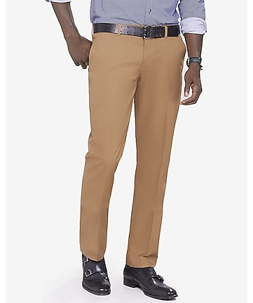 slim photographer khaki stretch cotton dress pant