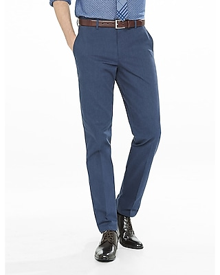 Express Mens Modern Producer Heathered Stretch Dress Pant
