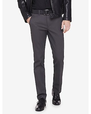extra slim innovator gray cotton dress pant