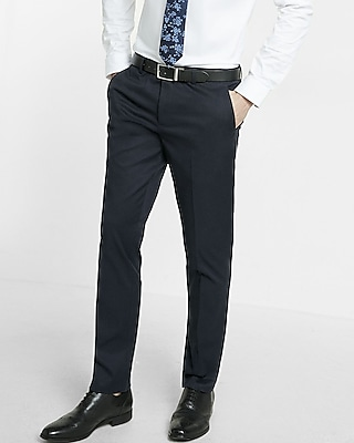 Express Mens Extra Slim Navy Dress Pant
