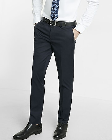 extra slim innovator navy dress pant