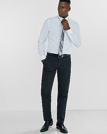 slim photographer heathered dark gray dress pant