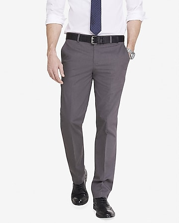 slim photographer heathered cotton dress pant