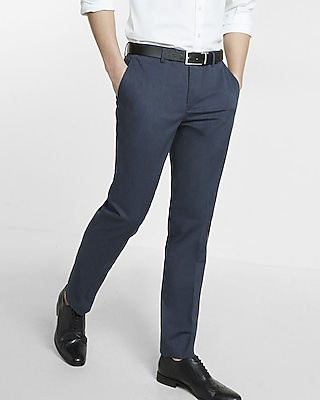 Express Mens Extra Slim Heathered Stretch Dress Pant