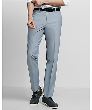 slim photographer gray chambray dress pant