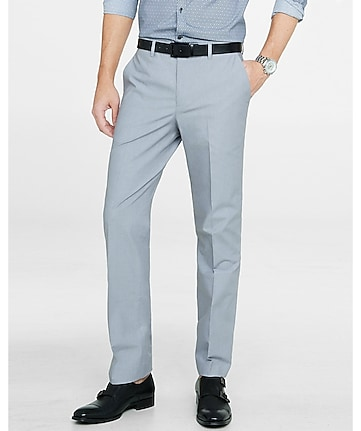 modern producer light gray chambray dress pant