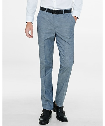modern producer gray textured dress pant