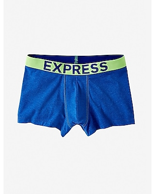 Express Mens Color Block Heathered Knit Sport Trunk
