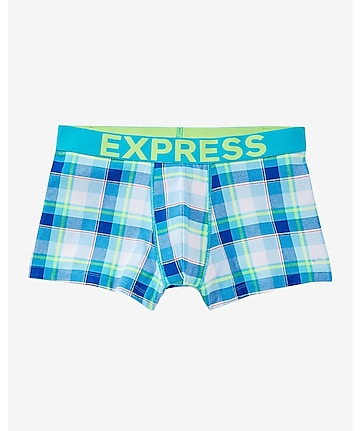 plaid knit sport trunks