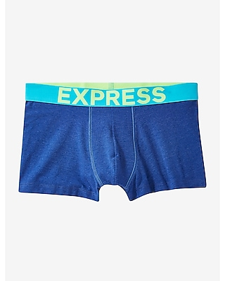 Express Mens Contrast Band Sport Trunk Blue Small
