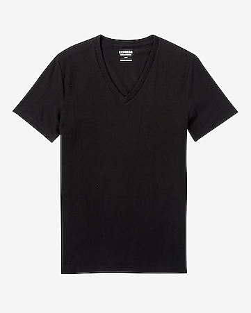 flex stretch deep v-neck tee