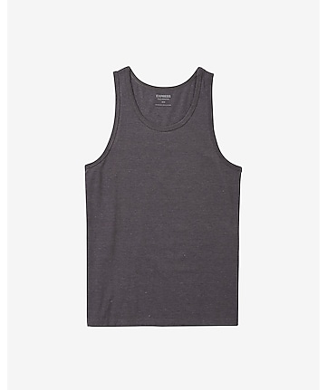heathered flex stretch cotton tank