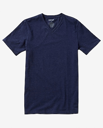 tall flex stretch cotton v-neck tee