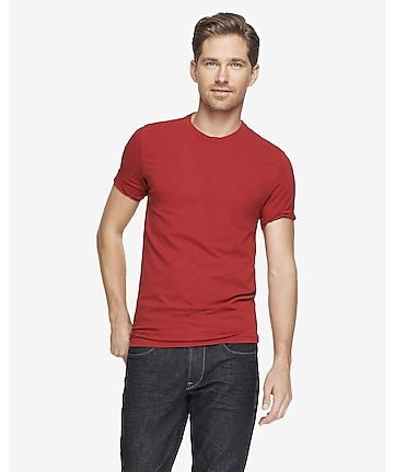 tall flex stretch cotton crew neck tee