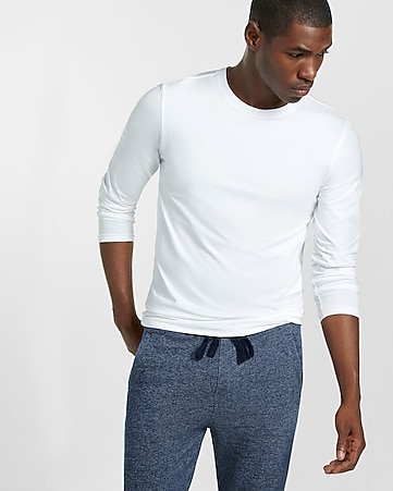 tall flex stretch cotton long sleeve tee