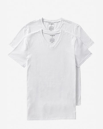 cotton v-neck tees 2-PACK