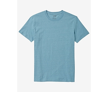 heathered flex stretch cotton crew neck tee