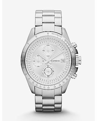 Express Mens Chronograph Watch - Silver