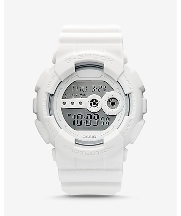 g-shock oversized white watch