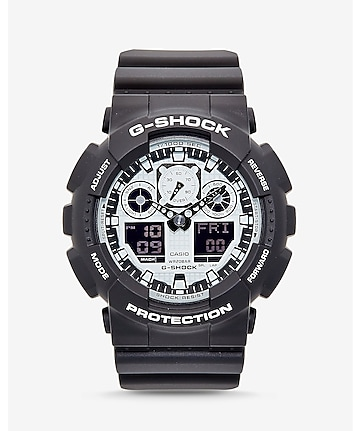 g-shock extra large gray and silver watch