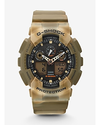 Express Mens G-Shock Extra Large Brown Camo Watch