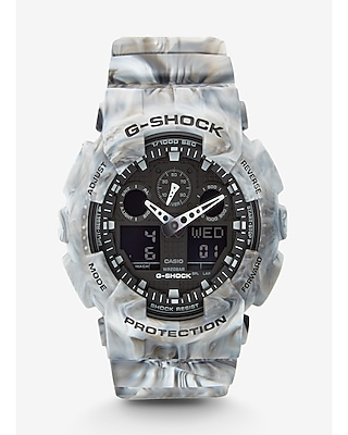 Express Mens G-Shock Extra Large Gray Marbled Watch
