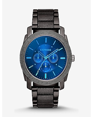 Express Mens Rivington Multi-Function Laser Crystal Watch