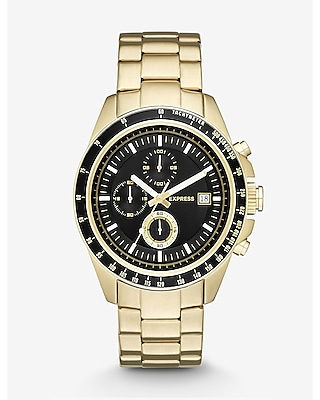 Express Mens Chronograph Stainless Steel Watch- Black