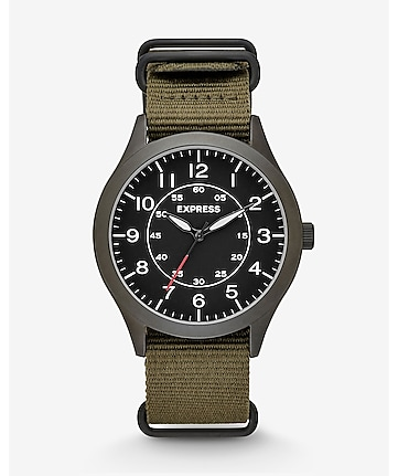 analog nylon strap watch