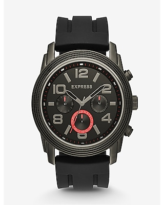 Express Mens Black Rivington Oversized Multi-Function Watch