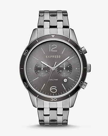 gunmetal multi-function bracelet watch
