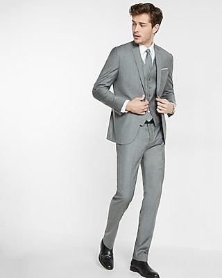Express Mens Slim Micro Twill Suit Jacket