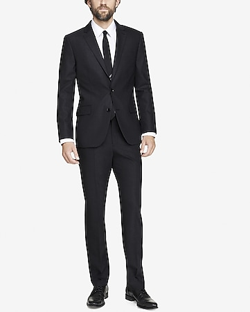 modern producer end-on-end gray suit jacket