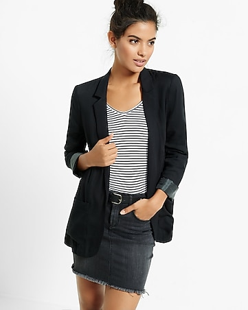 soft black blazer