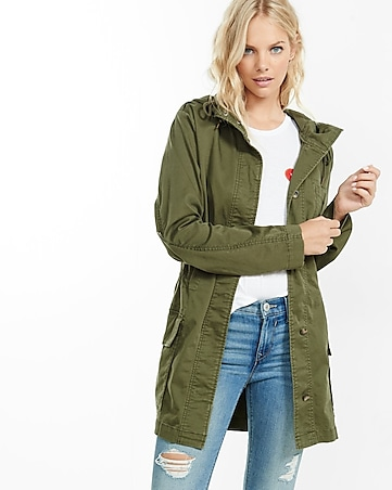 oversized hooded military parka