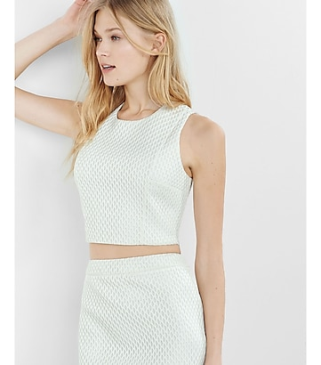 honeycomb mesh cropped tank