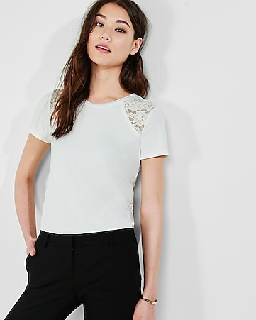 lace side panel tee