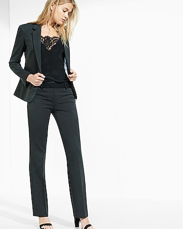 charcoal gray 24 inch one button blazer